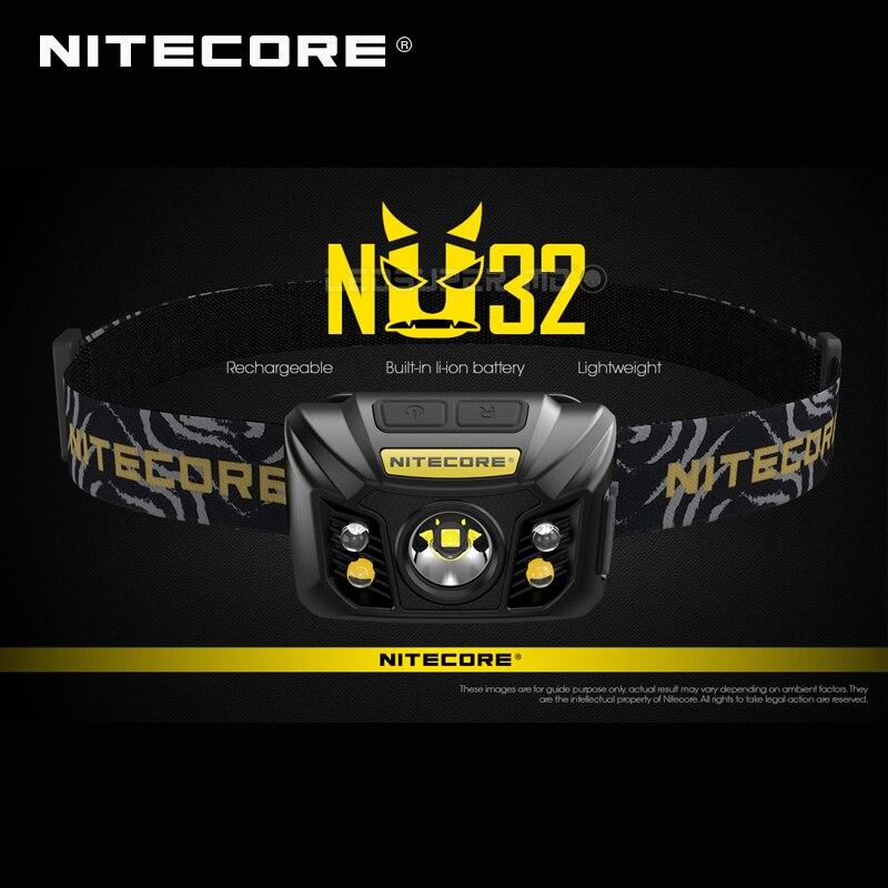 Offre Spéciale Nitecore NU32 CREE XP-G3 S3 LED 550 Lumens Haute Performance Rechargeable Projecteur Intégré Li-ion Batterie