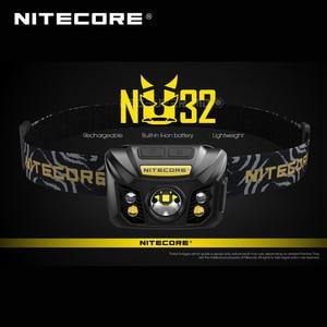 Image 1 - ホット販売nitecore NU32 cree XP G3 S3 led 550ルーメン高性能充電式ヘッドランプ内蔵リチウムイオン電池