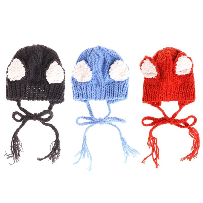 2017 Infant Newborn Photography Props Cute Fox Baby Hat Crochet Accessories Handmade Hats newborn baby photography props infant knit crochet costume peacock photo prop costume headband hat clothes set baby shower gift