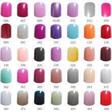 24Pcs Flat Top Fake Nail Candy Red Navy Nude Pink Acrylic False Full Cover Tips Manicure Tools