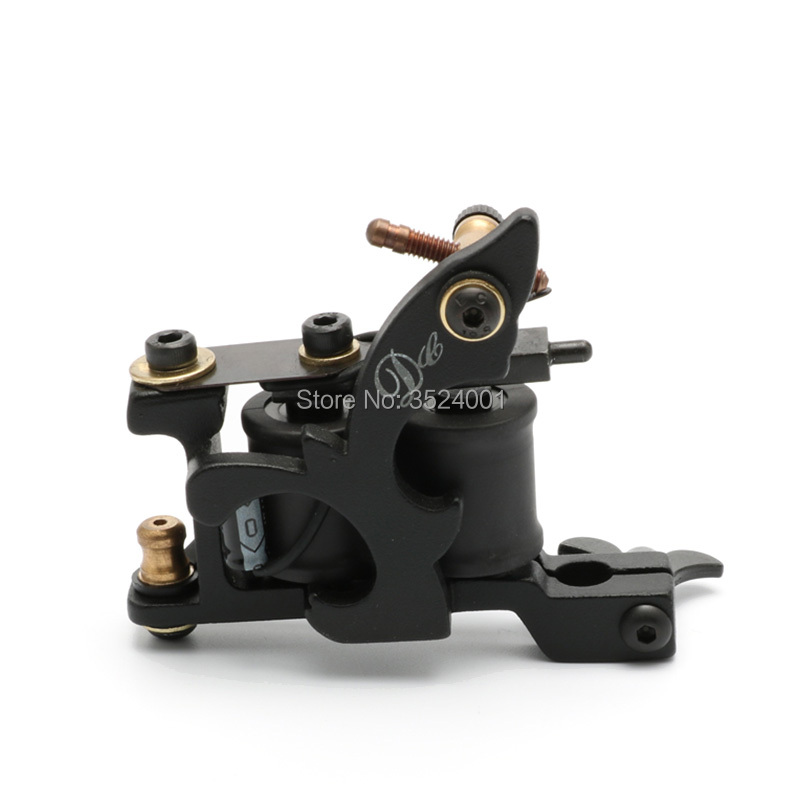 Free Shipping New Arrival Coil Tattoo Machine 8 Wrap Coils Tatoo Gun Black Steel Tattoo Frame for Liner Shader Equipment Supply new arrival 2017 wholesale professional handmade tattoo 10 wrap coils machine for liner hot sale free shipping