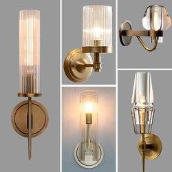 Retro RH K9 Crystal Shades G9 Wandlamp Amerikaanse Nachtkastje Blaker Verlichting Lustre Woonkamer Wandlamp