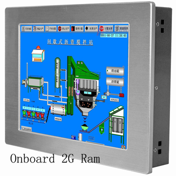 Manufacturer low price 12.1 inch Onboard 2*Lan port industrial panel pc
