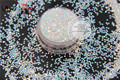 TCI21 Pearlescent Rainbow  Light Pink with Light Blue Colors1.0MM Size Round shape Glitter  for nail Art  nail gel makeup or DIY