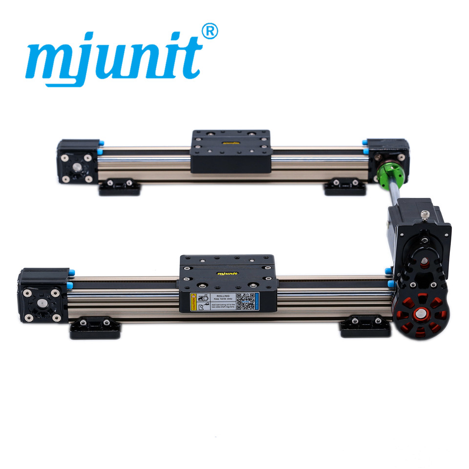 mjunit MJ40 linear guide rail based motion module for automatic with 1000mm stroke 2 rails mjunit mj40 miniature linear guideway with 400mm stroke