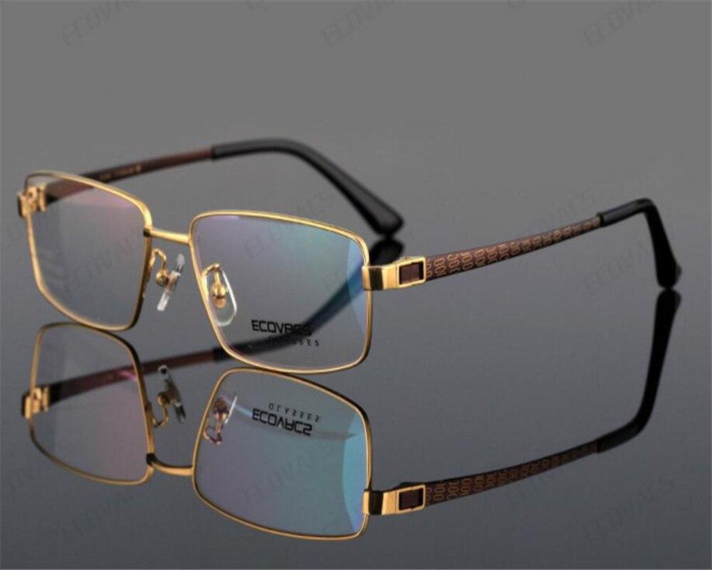 DOWER ME Pure Titanium Brand Men Full Rim Super Light Black Gold Optical Frame Presbyopia Lens Reading Eyeglasses ZM81653