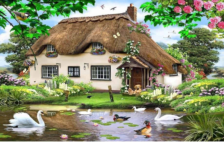 Compare prices on country wallpapers online shopping buy for 3d roof wallpaper