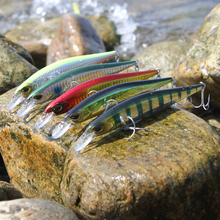 Super Quality 5 Colors 13.5cm 18.5g Hard Bait Minnow Crank Fishing lures With Magnet Bass Fresh Salt water 4# VMC hooks
