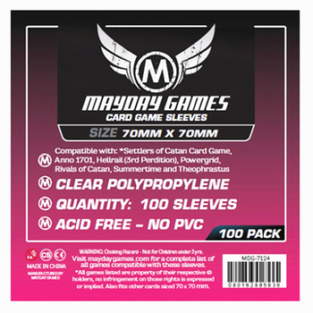 2 packs/lot MAYDAY Card Sleeve 7124 for 70*70mm cards protector clear pack case Board Games Sleeves