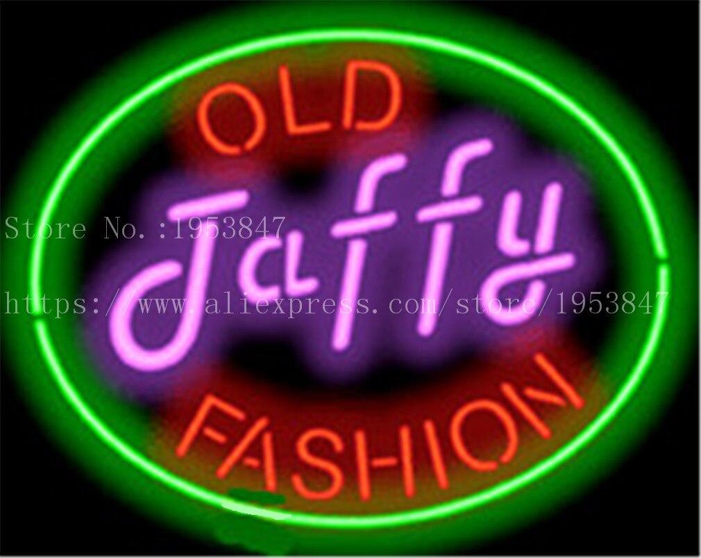 Ancienne enseigne au néon Taffy artisanale barre lumineuse bière Pub Club verre Tube enseigne carnaval alimentaire signes décoration 19