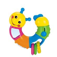 Детская игрушка-погремушка кровать колокольчик силиконовый колокольчик Jingle умная тренировка детский Прорезыватель развивающие мобильные телефоны игрушки 0-12-24 месяцев