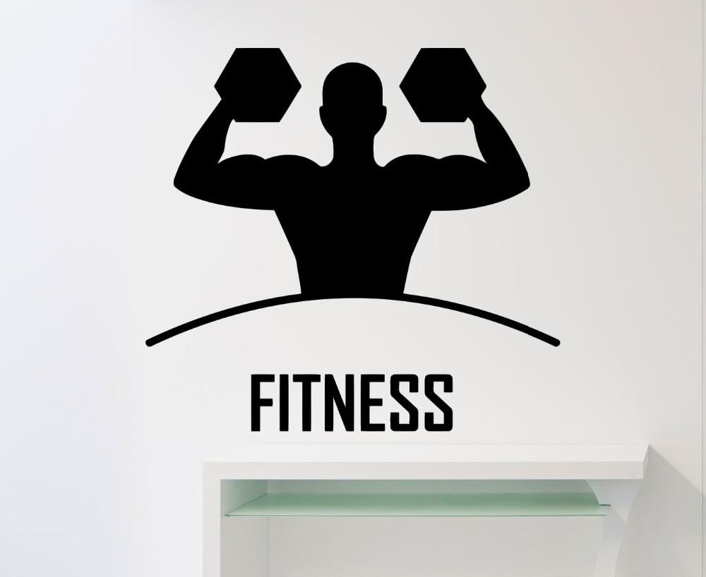 wohnzimmer wand poster : Fitness Wandaufkleber Sport Gym Ausbildung Yoga Vinyl Aufkleber