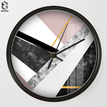 Nordic 8.7 inch Art Wall Clock of Geometric Silent Quartz Non Ticking Living Room Office Hand Simple Concise Home Decor