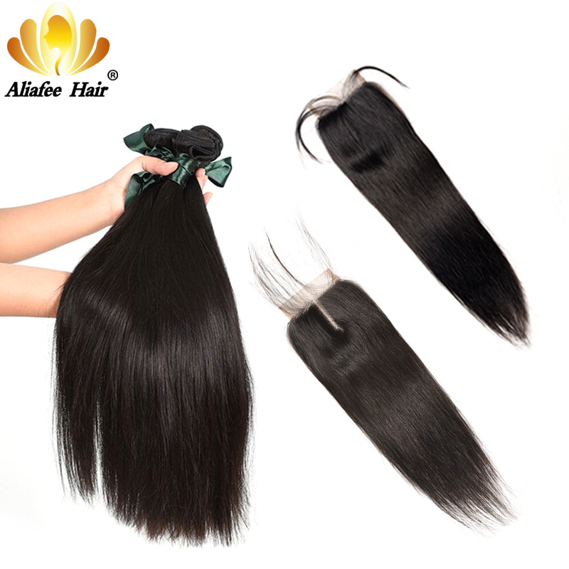 Ali Afee Hair Products Peruvian Straight Hair Only 1 stk. Naturfarve - Menneskehår (sort)