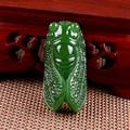 Xinjiang hetian jade jade golden cicada pendant /Send jade necklace