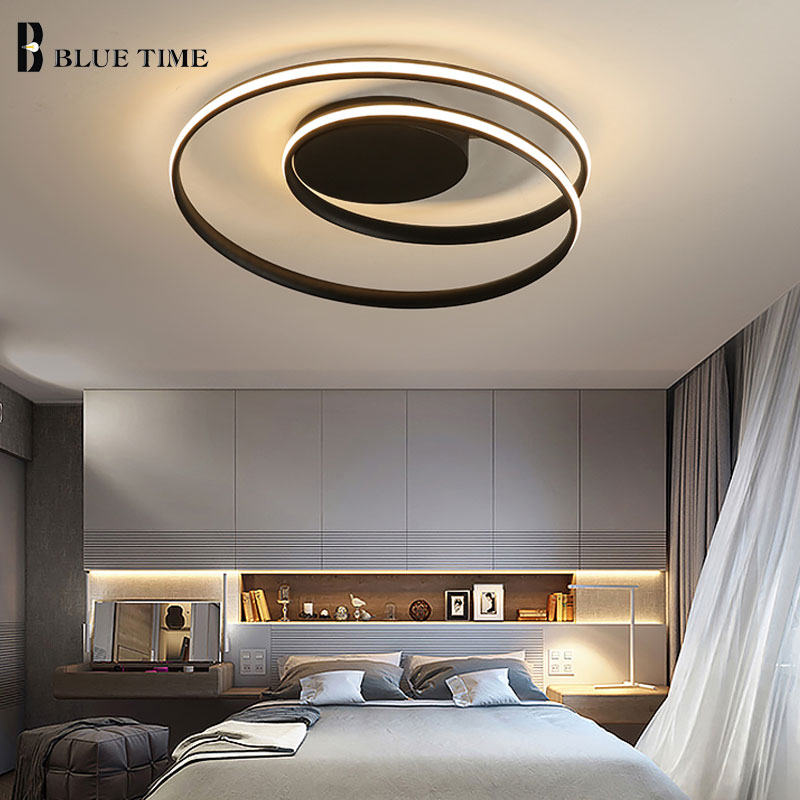 Plafonniers modernes acryliques simples pour la maison salon chambre cuisine plafonnier appareils d'éclairage à la maison AC110V 220 V.