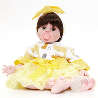 22 New Handmade Cute Wig Hair Cotton Body Adorable Lifelike Bone case Early Educational Style Kids Toys
