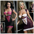 Sexy erotic lingerie chemise femme 2017 new hot sale  Blooming Beauty Chemise Dress A21005 babydoll lingerie sexy black/purple