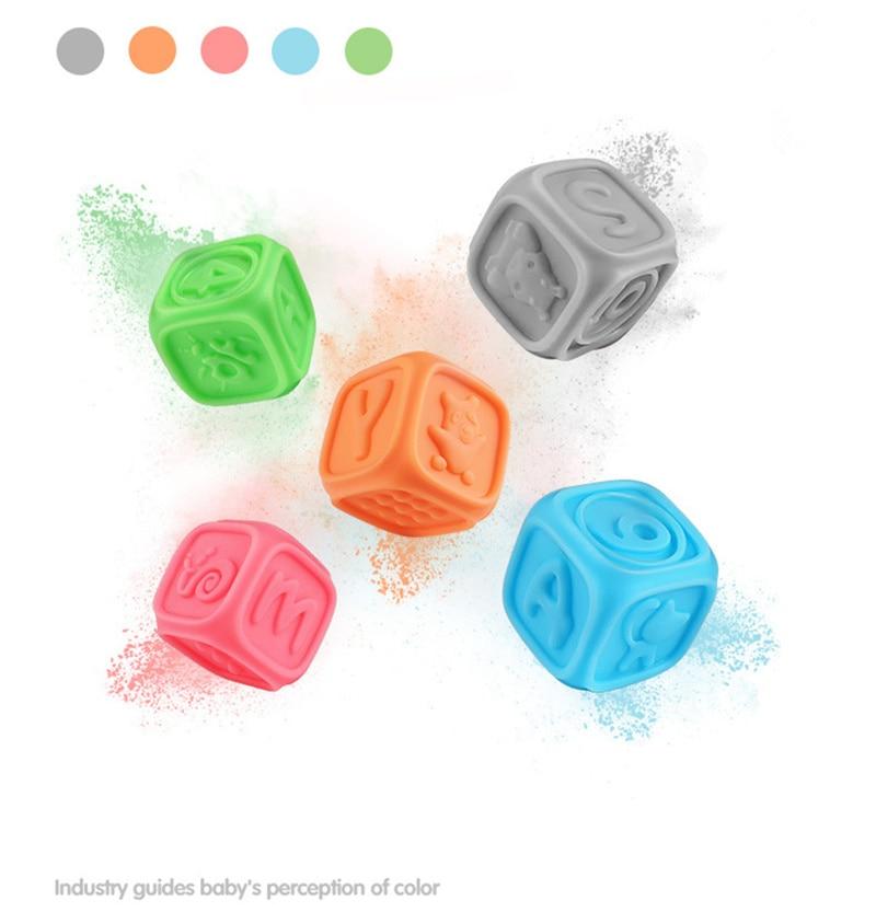 Dente Multi-textura Macia Bath Toy Formação massagem Bola de stress