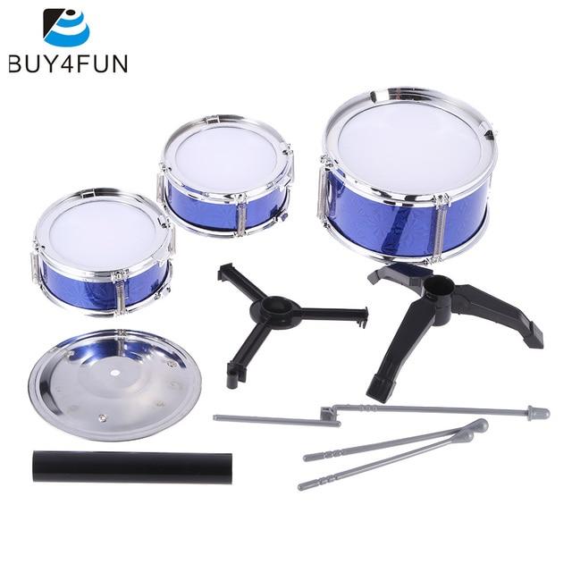 Children Kids Desktop Drum Set 3 Drums Musical Instrument Toy With