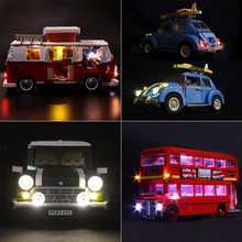 Led Lights For Lego 10220 City Creator Cars 10258 London bus 10252 10242 Compatible 21001 21045 21003 21002 Building Blocks Toys lepin 21045 genuine technic city series the london bus set building blocks bricks 10258 educational toys children gift 1716pcs