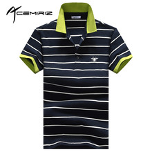 ACEMIRIZ 2017 Men's Polo Summer New Man Striped Polo Shirt Brand High Quality 99% Cotton Men Short Sleeve Polo Shirt HT-1736