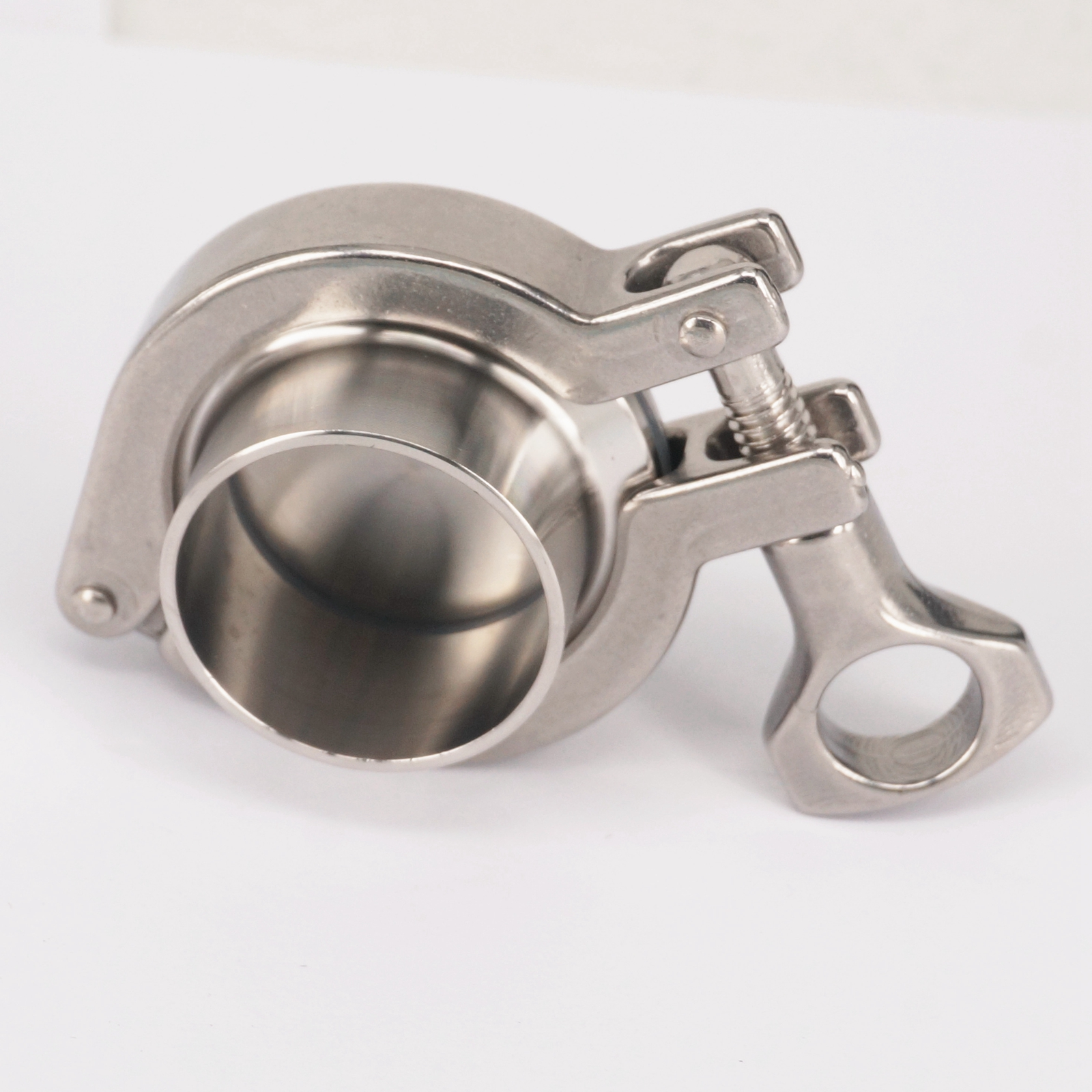 A Set 38mm Pipe OD Sanitary 1.5 Tri Clamp Weld Ferrule + Tri Clamp + Silicon Gasket + End Cap 304 Stainless steel For Homebrew
