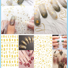 30pcs Water Stickers for Nail Sticker Art Self-Adhesive Striping Tape Foil Decorations DIYmanicure Design