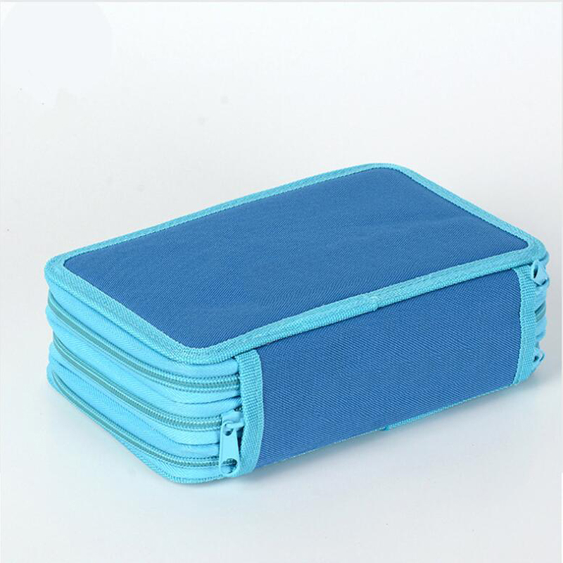 Large Capacity 42 Holes Pencil Bags Women Men Art Drawing Multifunction Storage Box Student Stationery 3 Layers Pencilcase Gift in Pencil Bags from Office School Supplies