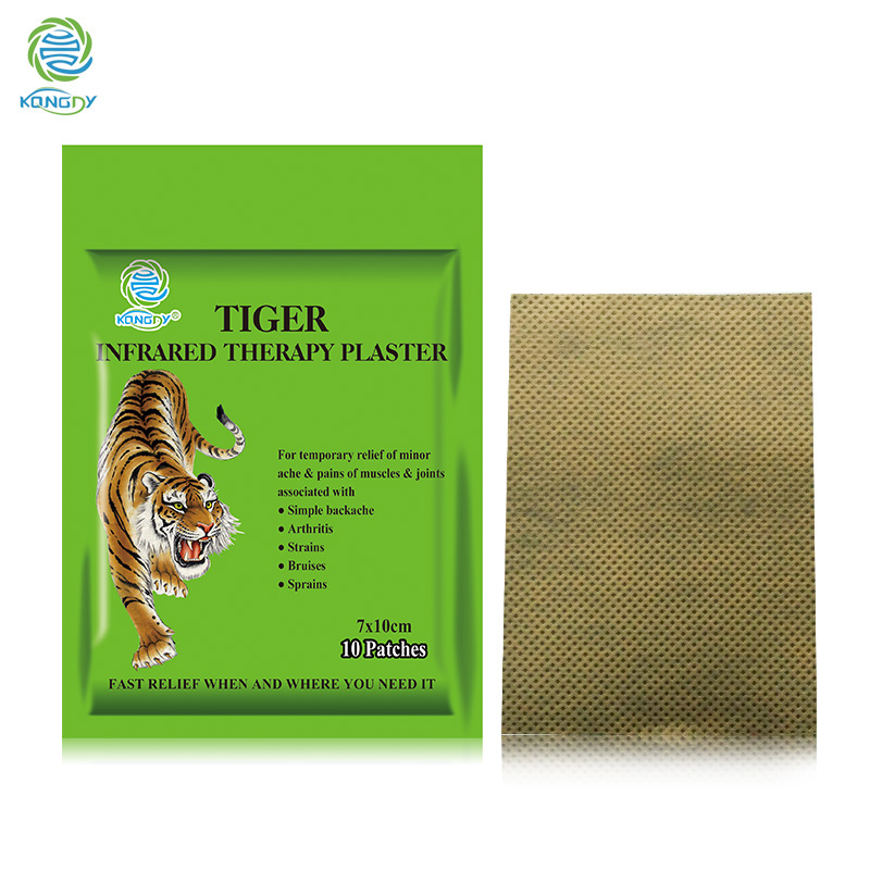 KONGDY Tiger Balm Plaster 7*10 cm Transdermal Neck Pain Patch 10 Pieces/1Bag Herbal Pain Relieving Pad Zipper Bag Muscle Massage kongdy brand 10 bags 20 pieces adhesive sheet bamboo vinegar foot patch removing toxins foot plaster foot cleansing pads