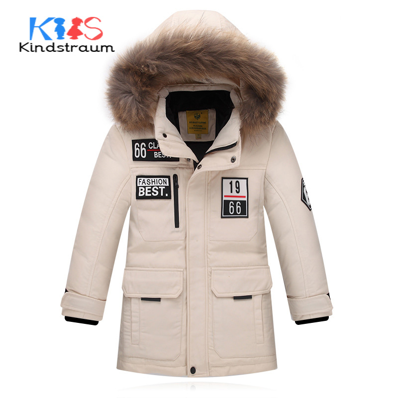 Kindstraum 2017 Super Warm Winter Boys Down Coat Hooded Fur Collar Kids Brand Casual Jacket Duck Down Children Outwear, MC855 russia winter boys girls down jacket boy girl warm thick duck down