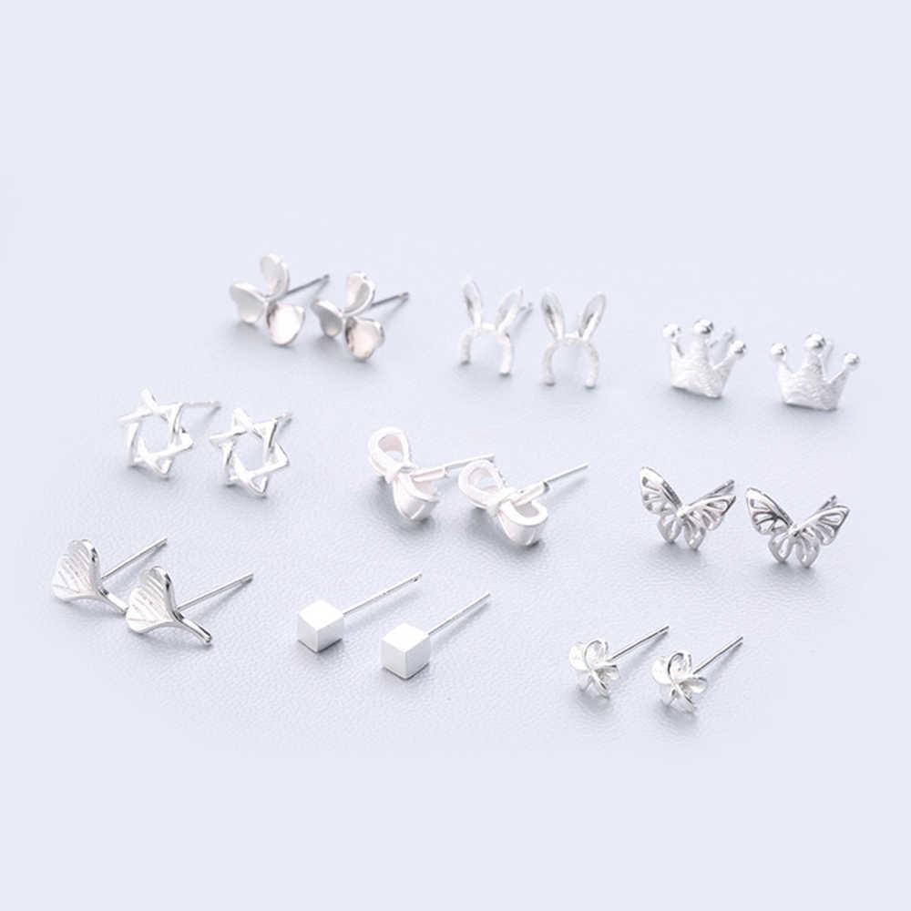 XIYANIKE ファッションジオメトリイヤリングホット販売 925 スターリングシルバーかわいいスタッド耳針シンプルな人格女性のための 109- 126