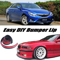 NOVOVISU For TOYOTA Reiz Mark X MarkX Bumper Lip Lips / Top Gear Shop Front Spoiler For Car Tuning / Body Kit + Strip Skirt