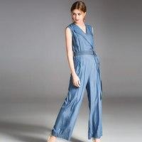 2019 модный бренд весна лето и осень для женщин комбинезон Европа Америка нагрудные Тонкий темперамент джинсовые комбинезон женщин