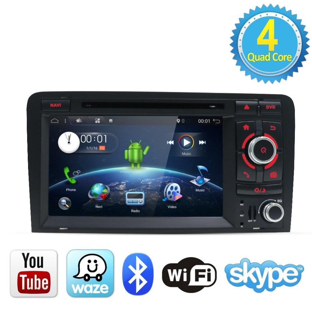 Bosion Voiture lecteur multimédia Android 7.1.1 GPS 2 Din Voiture lecteur dvd Pour Audi A3 2006-2011 Canbus 2 GB RAM 16 GB ROM wifi Radio FM