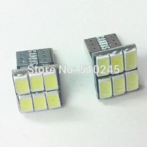 500X T10 DC12V Led w5w T15 158 168 194 5630 5730 6smd 6 SMD auto LED Car Replacement Light Lamp Bulbs