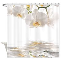 Warm Tour Orchids Reflection Fabric Polyester Waterproof Bathroom Curtains