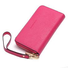 The new female hand bag leather purse short zipper for  iphone 5  5c 5s  6 6s case with a wrist bag