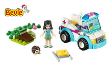 Bela 10534 Friends Vet Ambulance Emma Heartlake City Building Blocks Bricks Toy Compatible With Lepin Friends 41086