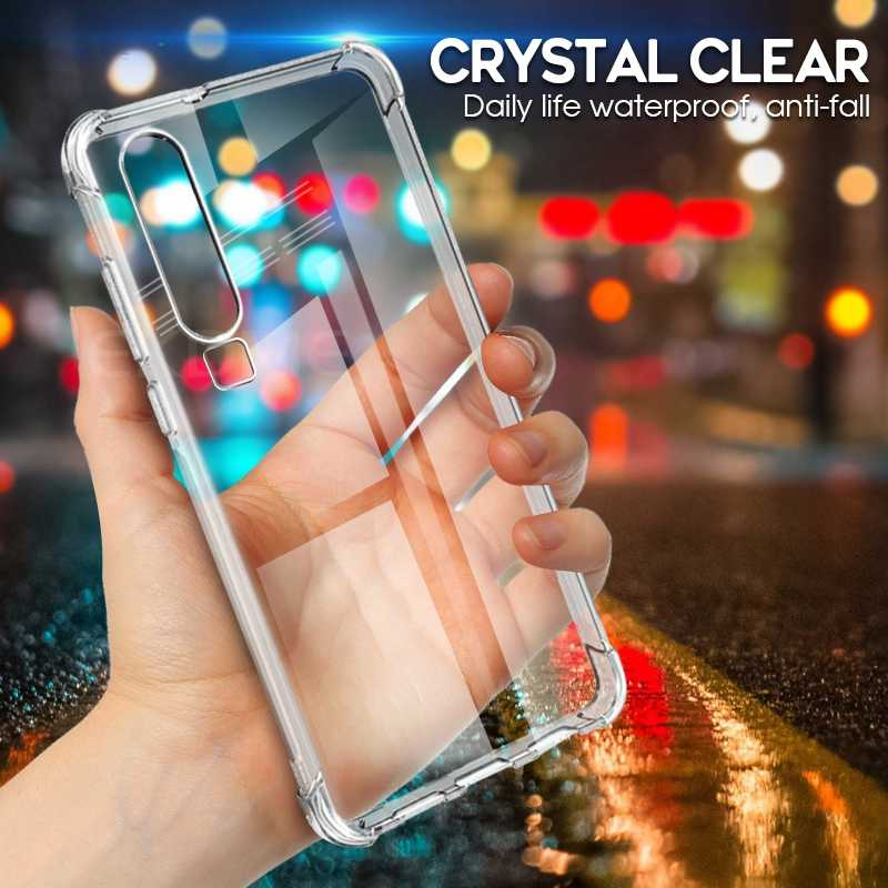Untuk Huawei P20 P30 Lite P30 Pro P Smart 2019 Case Transparan Ultra-Slim Kembali Menutupi untuk Huawei Nova 4 3 3i 2i 2 S Airbag Kasus