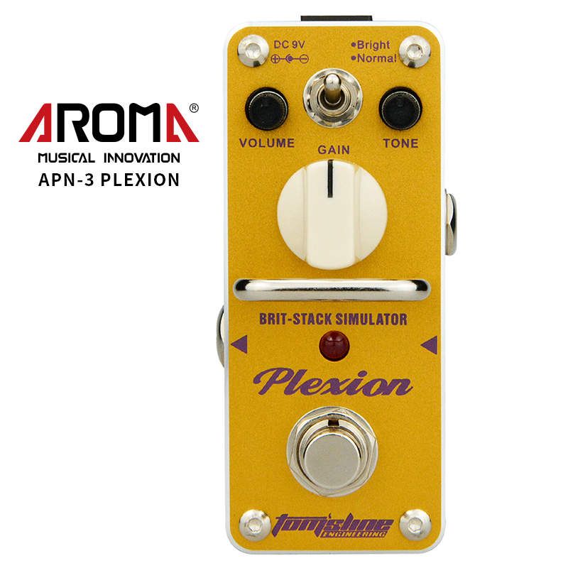 AROMA APN-3 Guitar Effect Pedal Plexion Brit-stack Simulator Electric Guitar Effect Pedal Mini Single Effect with True Bypass aroma aov 3 ocean verb digital reverb electric guitar effect pedal mini single effect with true bypass guitar parts