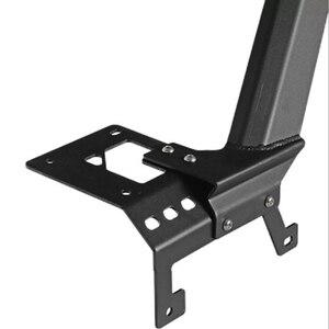 """Image 5 - Barre lumineuse de travail, 52 """"LED, support supérieur en acier, pour le pare brise, avec supports dangle inférieurs, pour Jeep Wrangler JL 2018, 2019 et plus"""