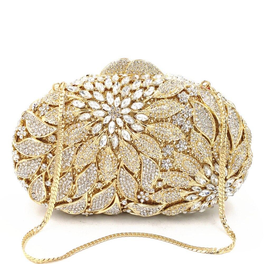 Femmes Soirée Bourse colorful Luxe Strass gold Jour Gold champagne Métal blue À Mode Sacs Main Or White Dames Rose Cristal De Embrayages Pierre Parti D'embrayage Sac xnwz886qFf