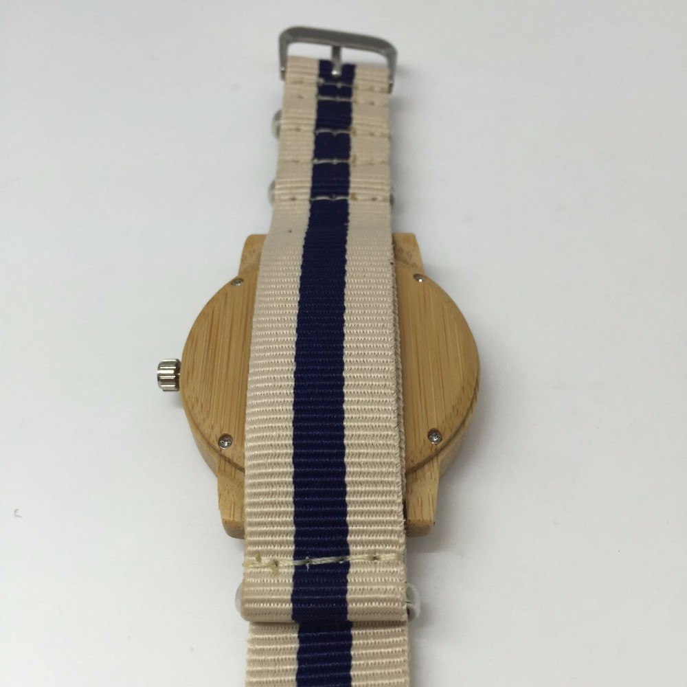 wood nylon watch 04