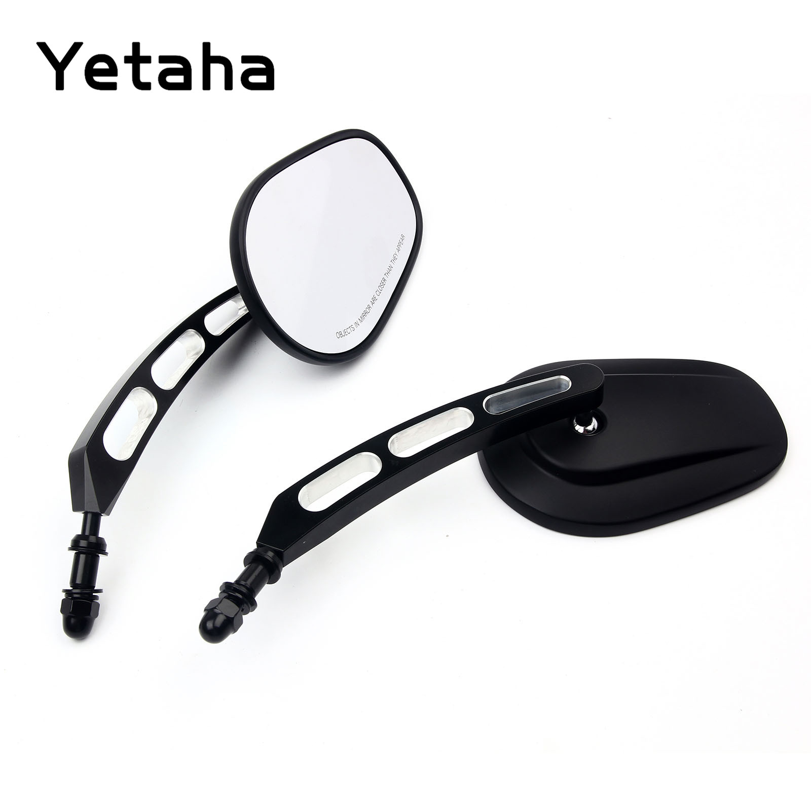 Yetaha 8mm 10mm Rear View Side Mirror For Sportster Softail Rocker Iron Fatboy Dyna Cross Road Black Chrome Motorcycle Mirrors-in Side Mirrors & Accessories from Automobiles & Motorcycles