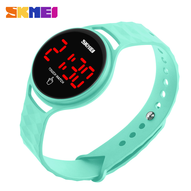 SKMEI Sport Watch Touch Screen LED Display Woman Fashion Casual Watch 3bar Waterproof Ladies Digital Wristwatches 1230 Relogio