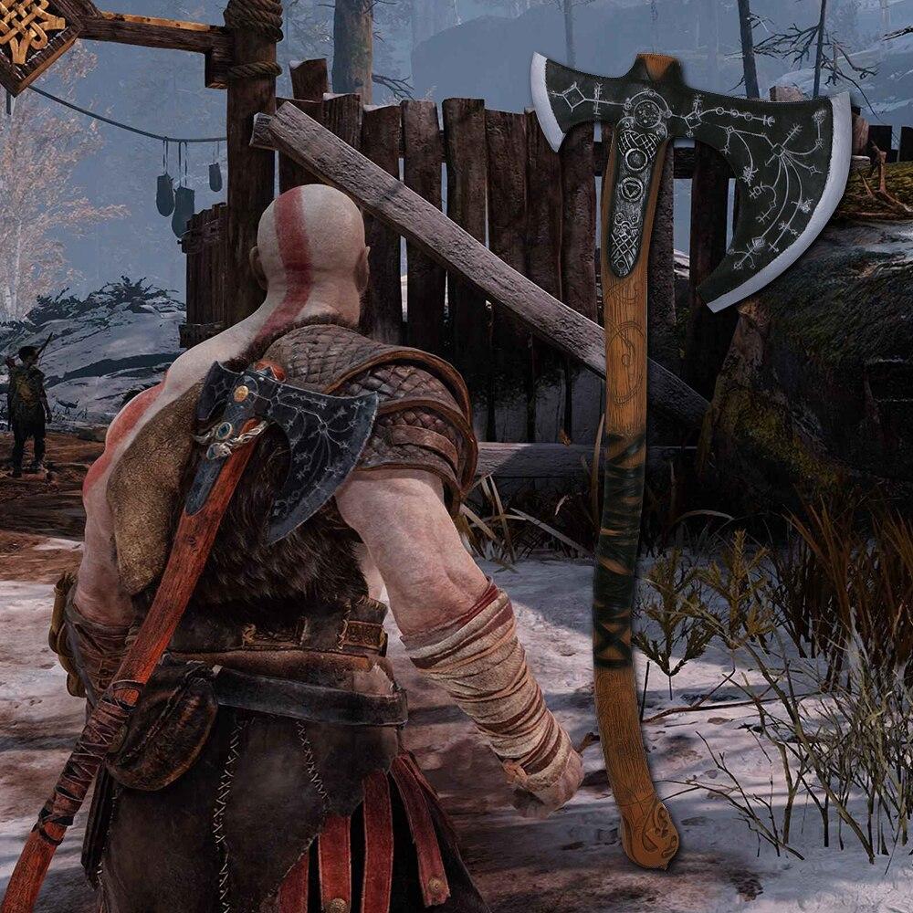 2018 God Of War Kratos Leviathan Axe Cosplay Kratos Weapon Axe Halloween Props