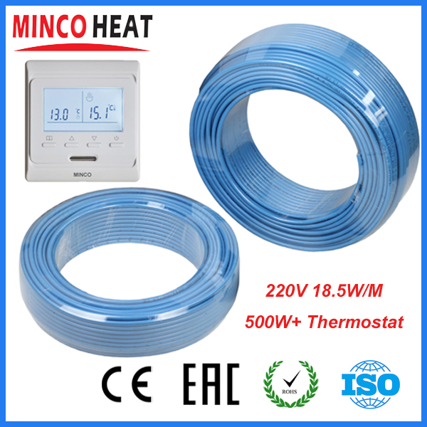 220V Single Conductor Underfloor Heating Cable 500W+ Programmable ...