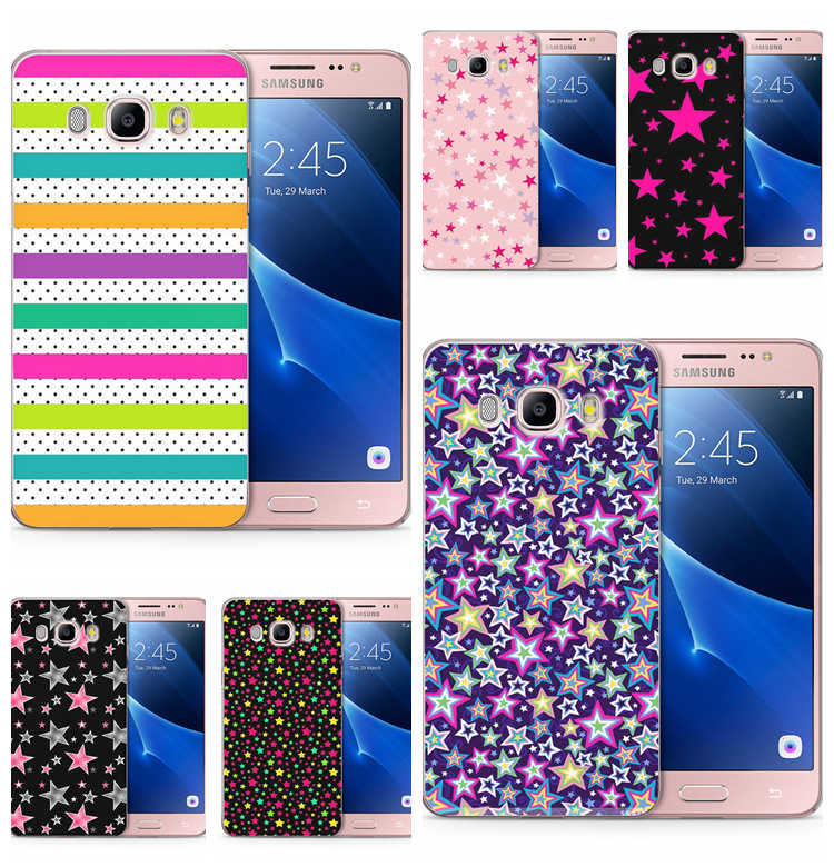 Для Samsung Galaxy J1 J3 J5 J7 J120 J330 J530F G530 prime мягкий чехол из ТПУ с узором Дизайн Китти коготь; зимние детские носки со звездами, в крапинку, в задняя крышка Fundas C163