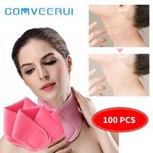 100 Pcs wholesale SPA Gel Moisturizing Hydrating Neck Mask Reusable Rejuvenating Exfoliating Neck Skin Beauty Anti Aging Repair